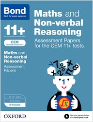 CEM 11+ Maths & Non-Verbal Reasoning Assessment Papers (Ages 8-9)