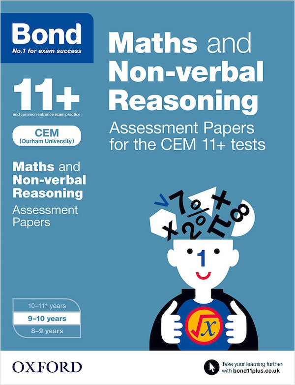 CEM 11+ Maths & Non-Verbal Reasoning Assessment Papers (Ages 9-10)