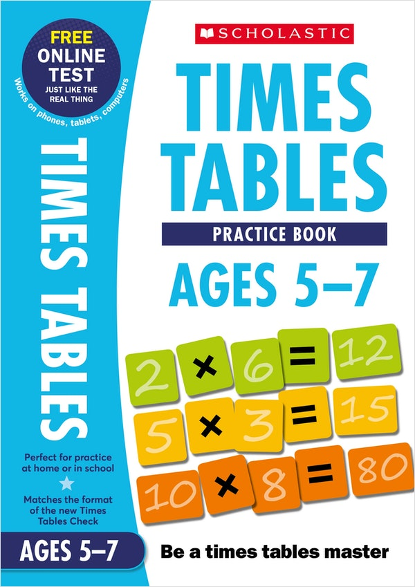 Times Tables Practice Book (Ages 5-7)