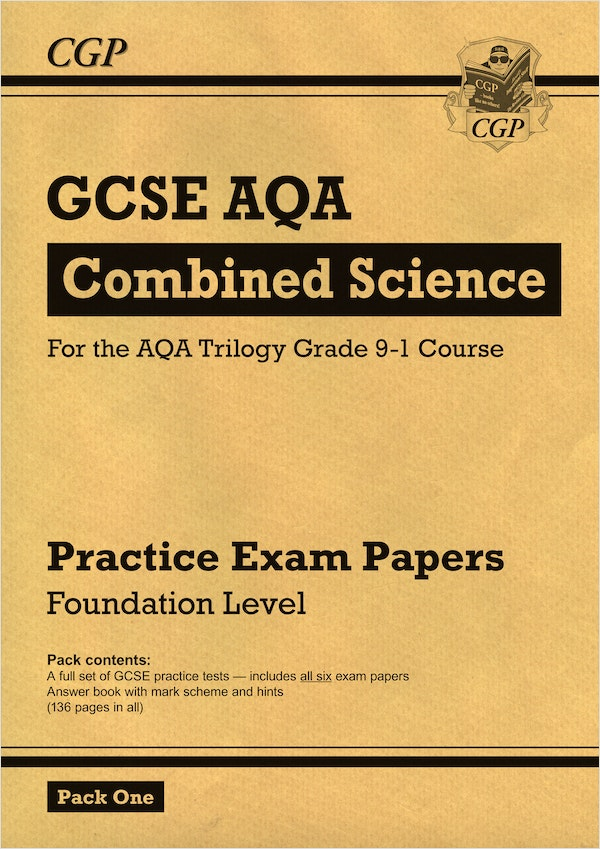 GCSE Combined Science AQA Practice Papers (Foundation) Pack 1