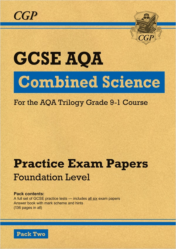 GCSE Combined Science AQA Practice Papers (Foundation) Pack 2
