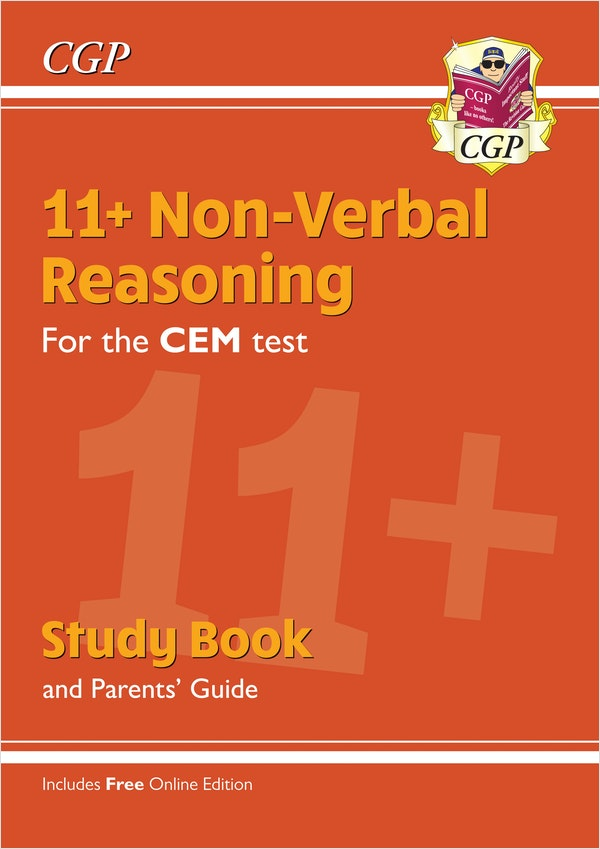 CEM 11+ Non-Verbal Reasoning Study Book (& Parents Guide)