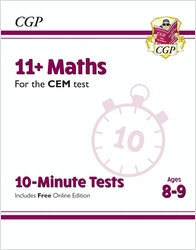 CEM 11+ Maths 10-Minute Tests (Ages 8-9)