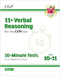 CEM 11+ Verbal Reasoning 10 Minute Tests