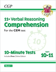 CEM 11+ Comprehension 10-Minute Tests (Ages 10-11)