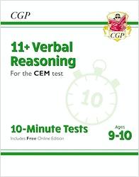CEM 11+ Verbal Reasoning 10-Minute Tests (Ages 9-10)