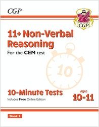 CEM 11+ Non-Verbal Reasoning 10 Minute Tests