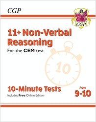 CEM 11+ Non-Verbal Reasoning 10-Minute Tests (Ages 9-10)