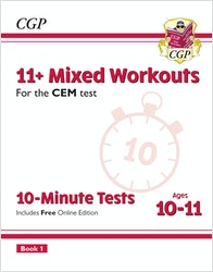 CEM 11+ Mixed Topic 10-Minute Tests Book 1 (Ages 10-11)