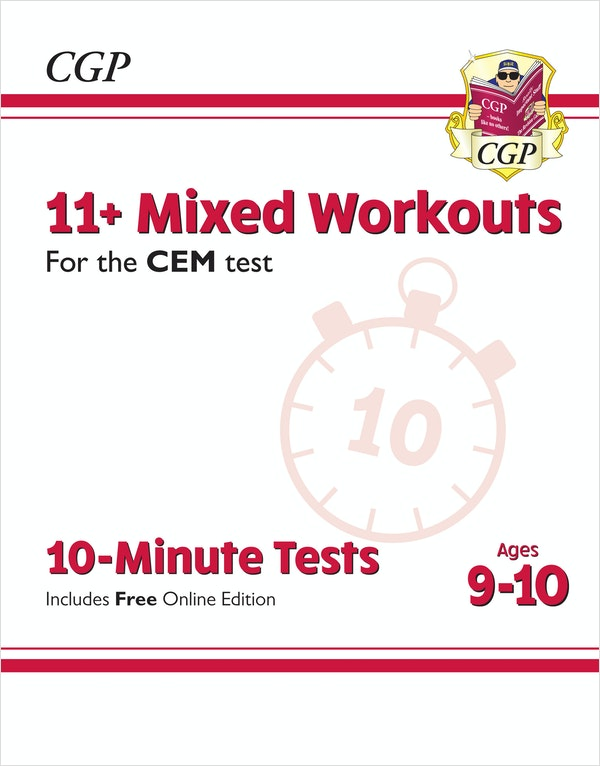 CEM 11+ Mixed Topic 10-Minute Tests (Ages 9-10)