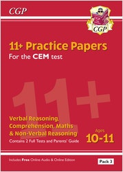 CEM 11+ Practice Papers (Pack 3)