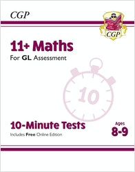 GL Assessment 11+ Maths 10-Minute Tests (Ages 8-9)