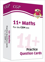 CEM 11+ Maths Practice Question Cards