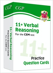 CEM 11+ Verbal Reasoning Practice Question Cards