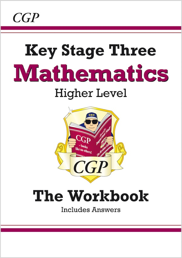 ks3 maths workbook higher by cgp buy from 9781841460383 1841460389. Black Bedroom Furniture Sets. Home Design Ideas