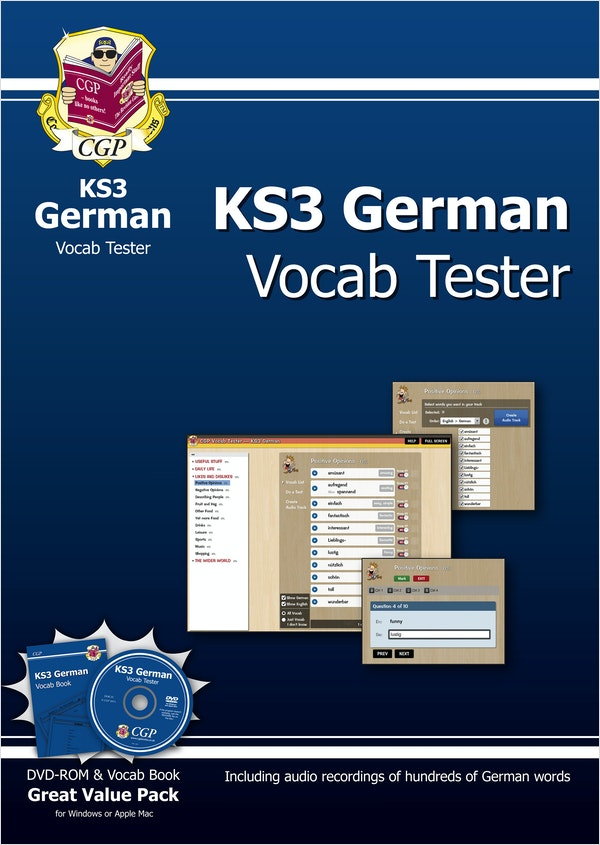 KS3 German Interactive Vocab Tester (DVD & Book)
