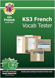 KS3 French Interactive Vocab Tester (DVD & Book)