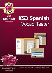 KS3 Spanish Interactive Vocab Tester (DVD & Book)