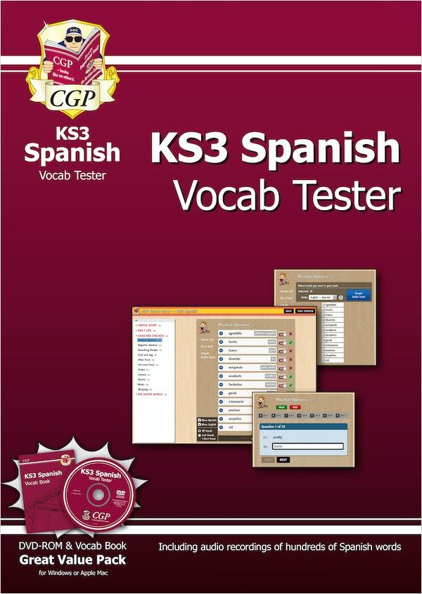 KS3 Spanish Interactive Vocab Tester (DVD & Book)