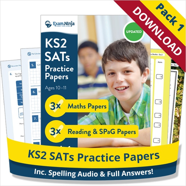 2019 KS2 SATs Practice Papers - Pack 1 Download (School Licence)