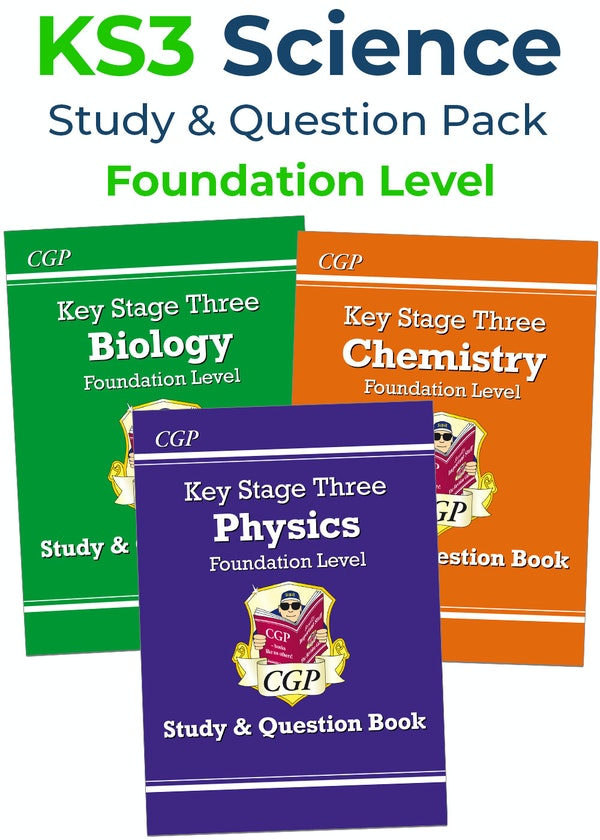 KS3 Science Study & Question Book Pack (Foundation)