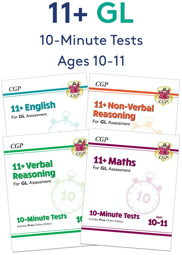 GL Assessment 11+ 10-Minute Tests Pack (Ages 10-11)