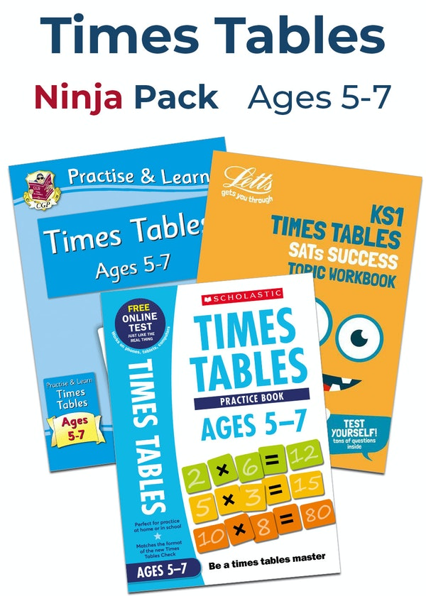 Times Tables Ninja Pack (Ages 5-7)